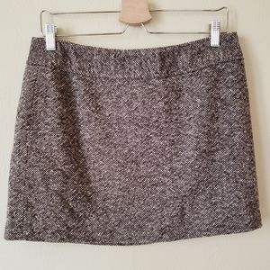 J. Crew Tweed Woolen Blend Mini Skirt